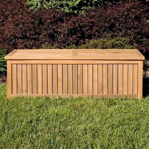 Bon Holley 5 Ft Teak Outdoor Storage Box