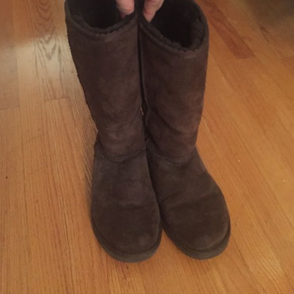 Tall brown UGGs Classic tall brown UGGs, good condition UGG Shoes Winter & Rain Boots