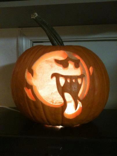super mario bros boo pumpkin carving on global geek news carving rh no pinterest com