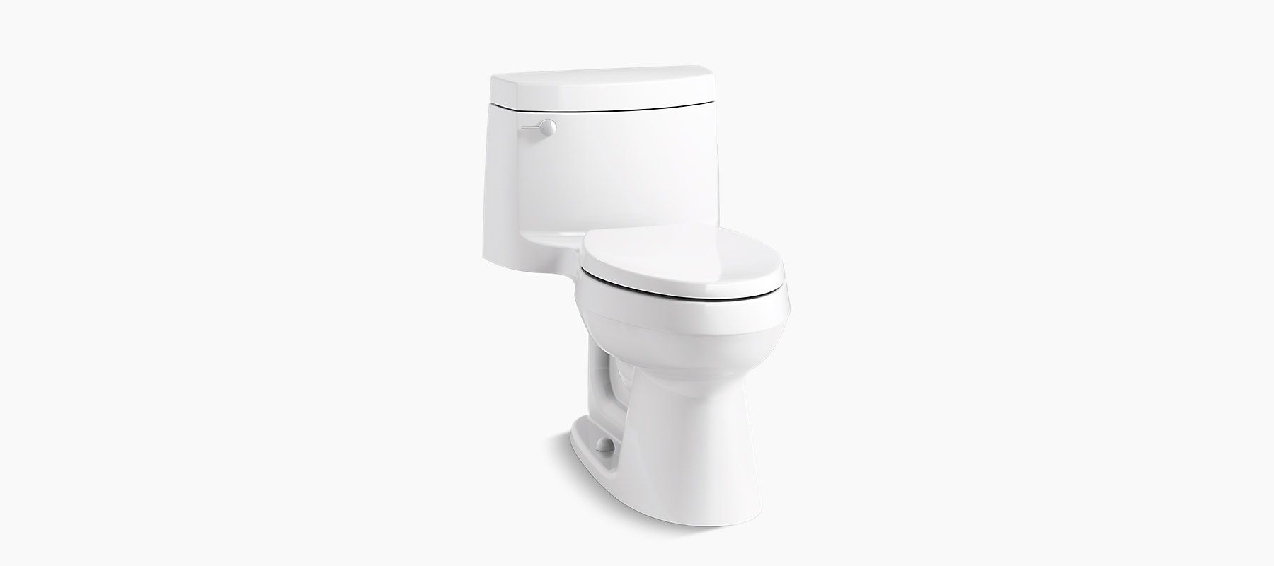 Cimarron® one-piece elongated 1.28 gpf exposed trap toilet (non ...