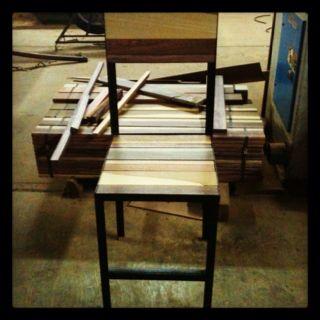 Mestiza. Made of recycle wood