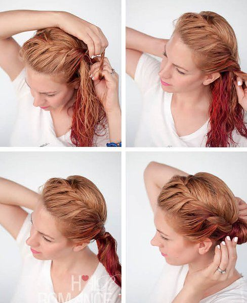 How To Style Wet Hair 10 Fast And Easy Hairstyles Easy Hairstyles Hair Hair Styles