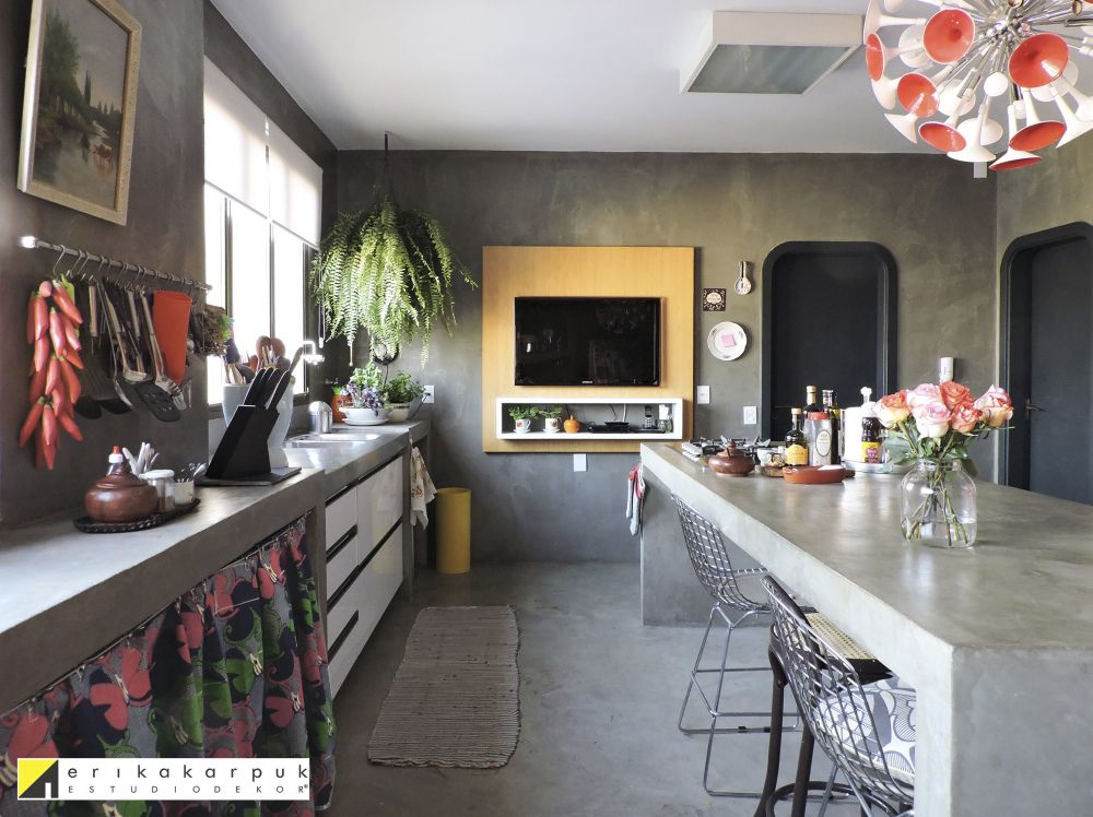 Cozinha De Concreto Cozinha De Concreto Cozinha Sala Reforma