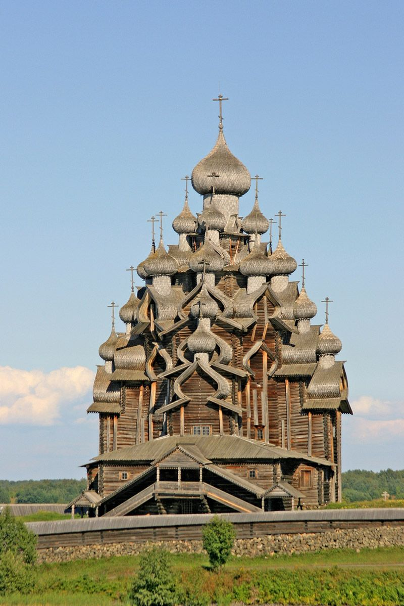 Kizhi wooden churches are located on one of the many