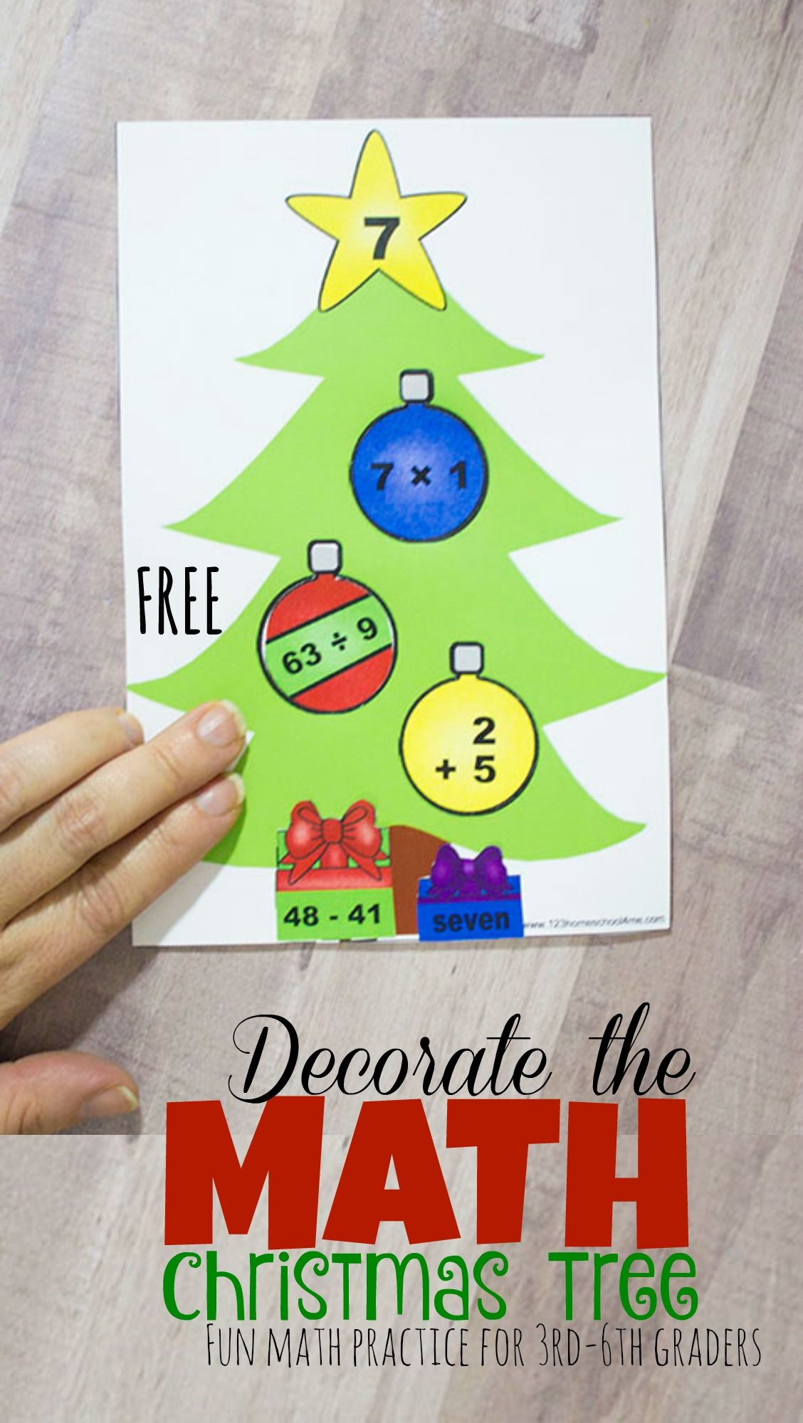 Free Decorate The Math Christmas Trees