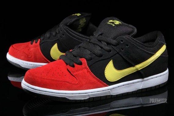 Nike SB Dunk Low Pro - Black - University Red - Sonic Yellow -  SneakerNews.com