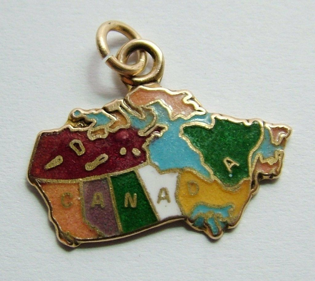 Canada Map Charm Charms for Bracelets and Necklaces