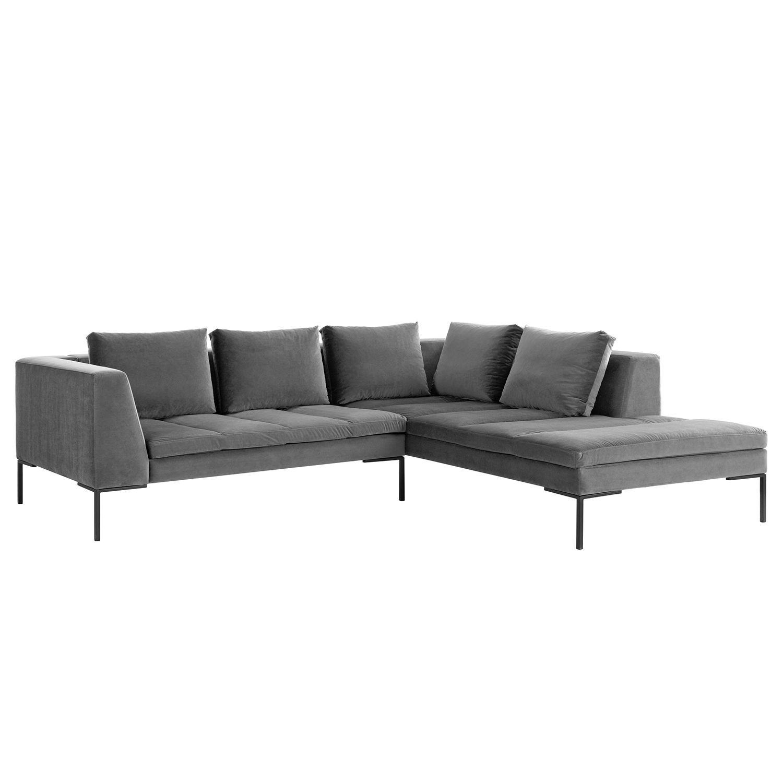 Chesterfield Ecksofa Modern Barock 275cm Grau Samt 3 Sitzer Riess Ambiente De Chesterfield Ecksofa Ecksofa Sofa