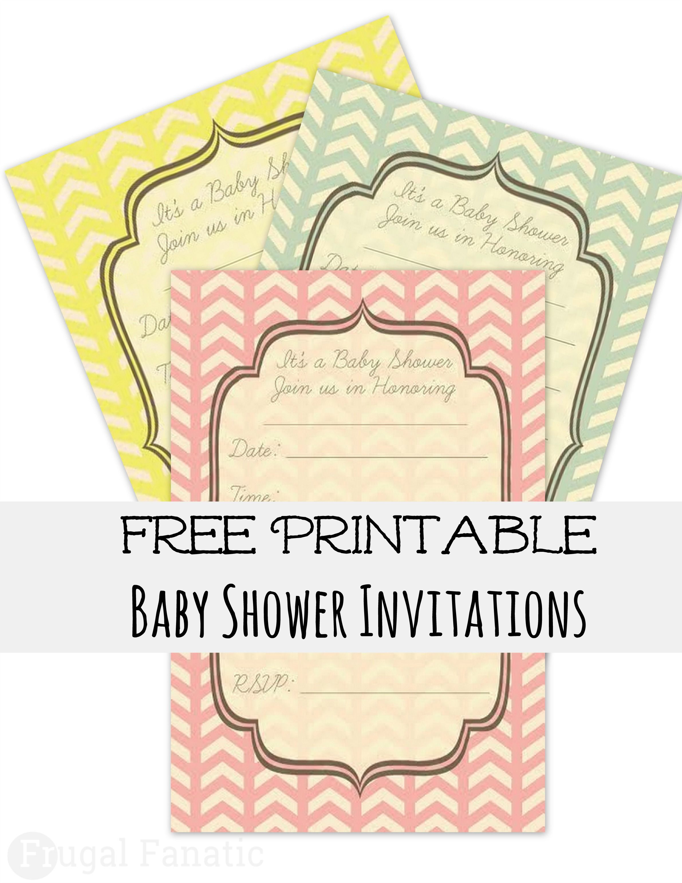 Chevron Baby Shower Invitation--free download and can be customized ...