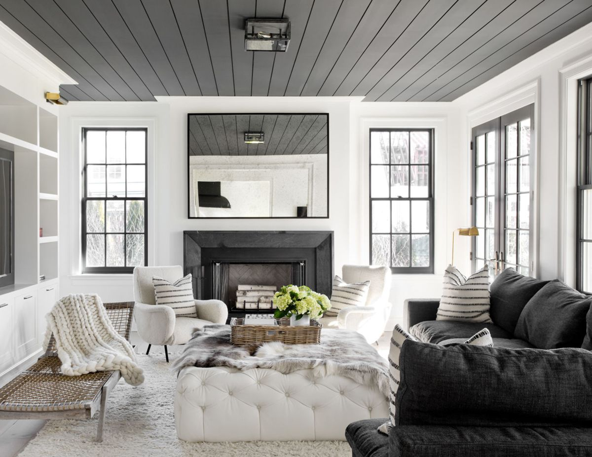 Best House Tour Black White Gets Cozy In This Family Home 640 x 480
