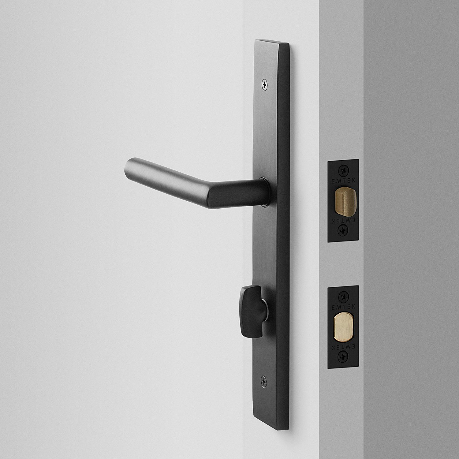 Rome Tall Door Set With Otto Lever Flat Black Door Sets Door Hardware Black Door Handles