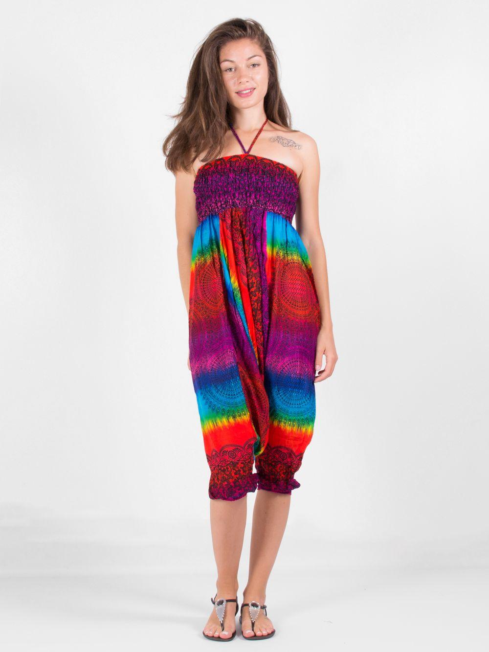 1d5220f153e86 Combi sarouel rainbow mandala convertible en pantalon PAN 44