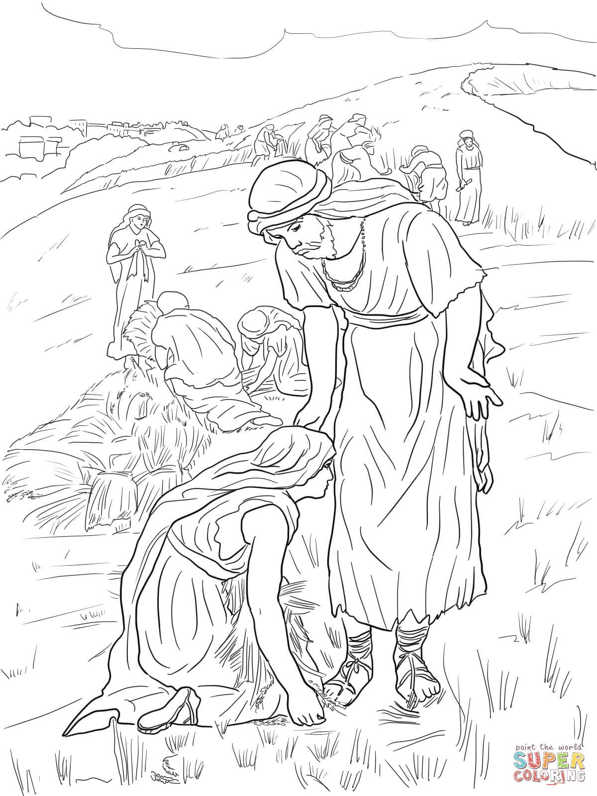 Ruth And Boaz Coloring Page From Ruth And Naomi Category