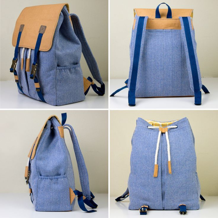 Neues Schnittmuster: Rucksack Ewa ist online | Project s, Upcycling ...