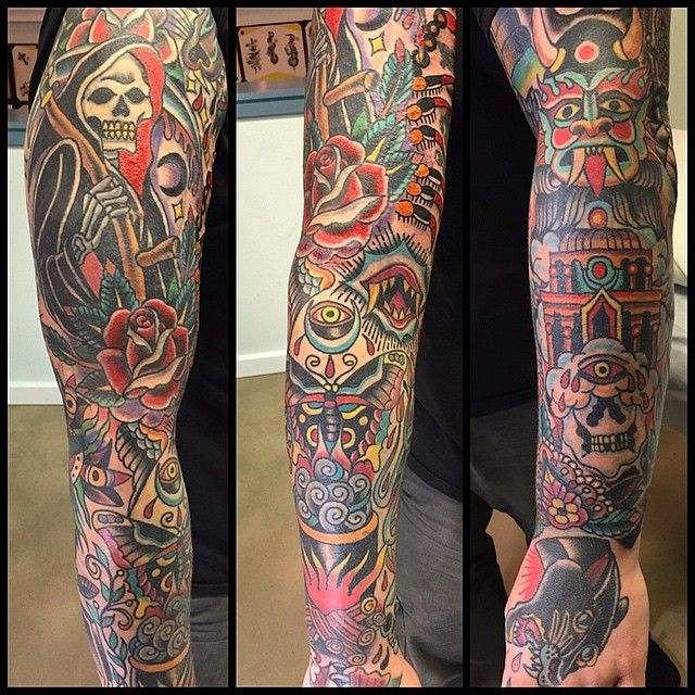 American Traditional Photo Traditional Tattoo Traditional Tattoo Sleeve Sleeve Tattoos