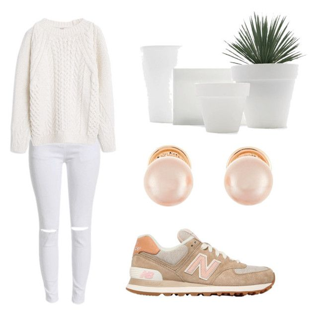 """""""Untitled #7"""" by simone-xxii ❤ liked on Polyvore featuring New Balance, Kenneth Jay Lane, MANGO, women's clothing, women, female, woman, misses and juniors"""
