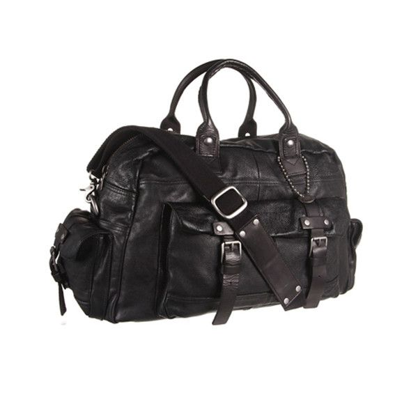 John Varvatos Star USA Washed Leather-Small Duffel - The Pepin Shop