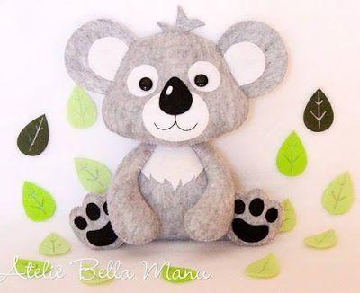 Arte em TudO: Molde /Koala | Babyspielzeug | Pinterest ...