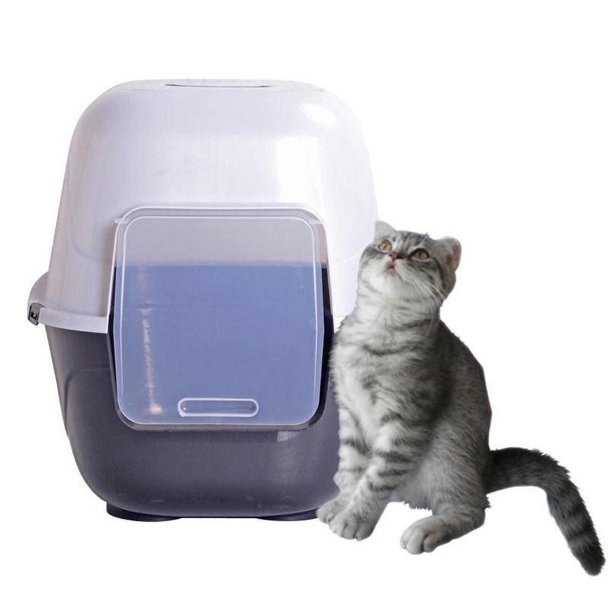 Favorite 24 Inch Cat Litter Box Extra Large Grey Jumbo Covered Litter Pan Enclosed Kitten Litter Box Giant Hooded Kitt Cat Litter Litter Box Cat Litter Box