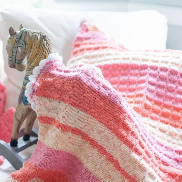 Loom Knit Baby Blanket With Crochet Edging PATTERN ...