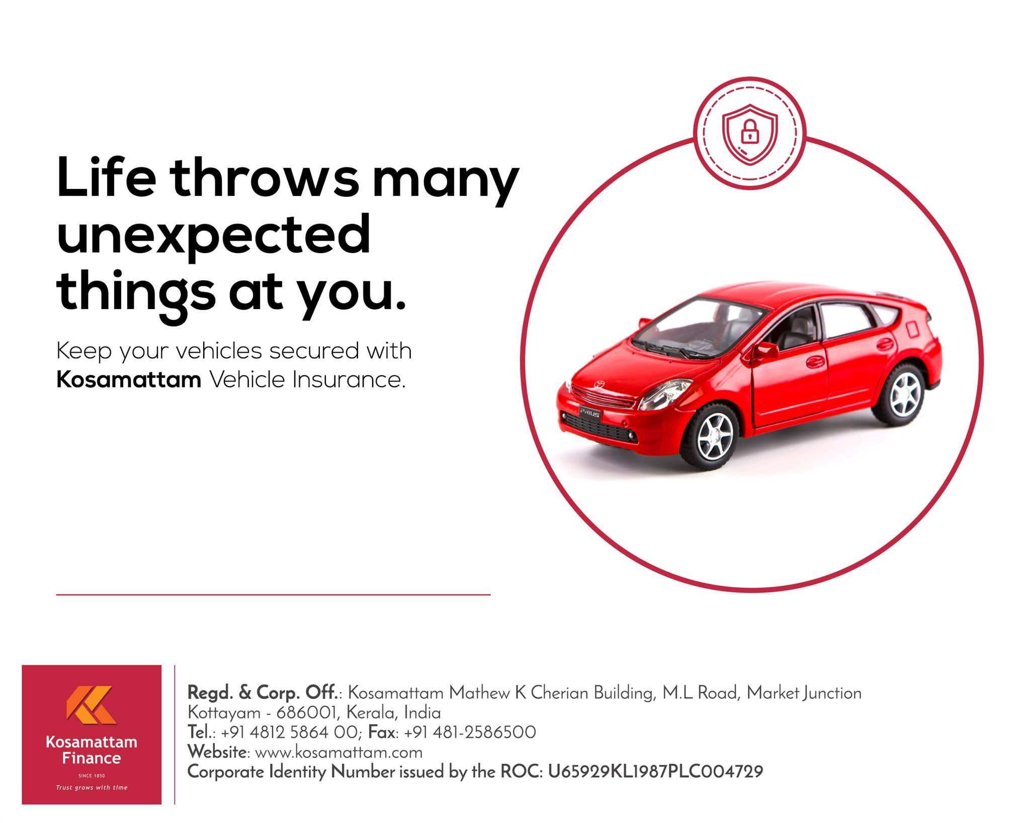 Protect your car from unseen risks! Get your car insured