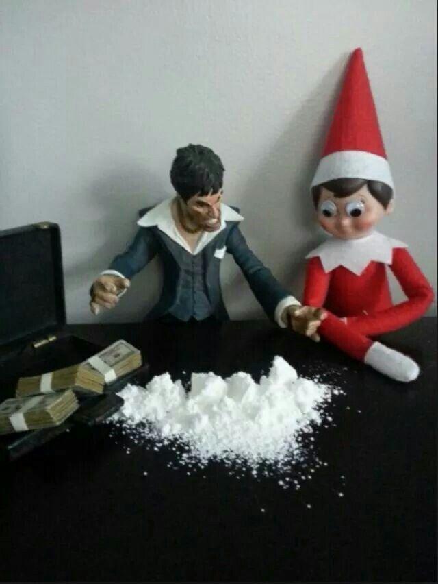 Scarface Elf On A Shelf Lol Naughty Elf On A Shelf Elf On The