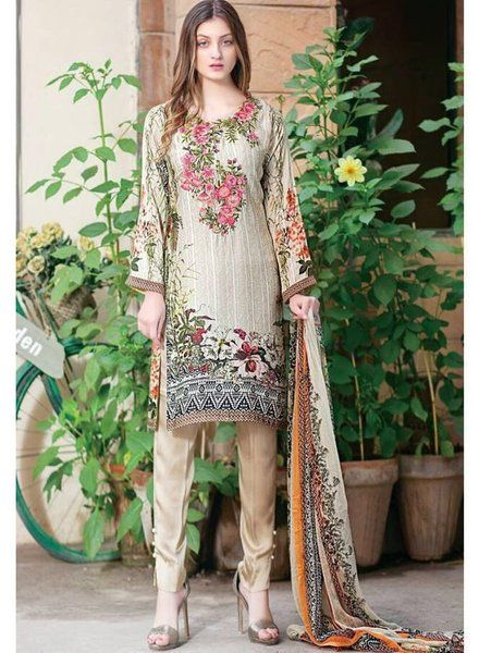 a2f3f9fd28 Top   Pure Cotton with Self Embroidery Work Bottom   Semi Loan Cotton  Dupatta Chiffon Print