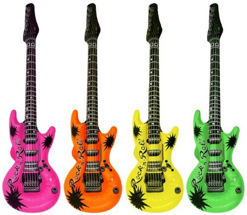 4 Inflatable Saxophone Rock /& Roll Music Disco Fancy Dress Party Fillers Toy-Uk