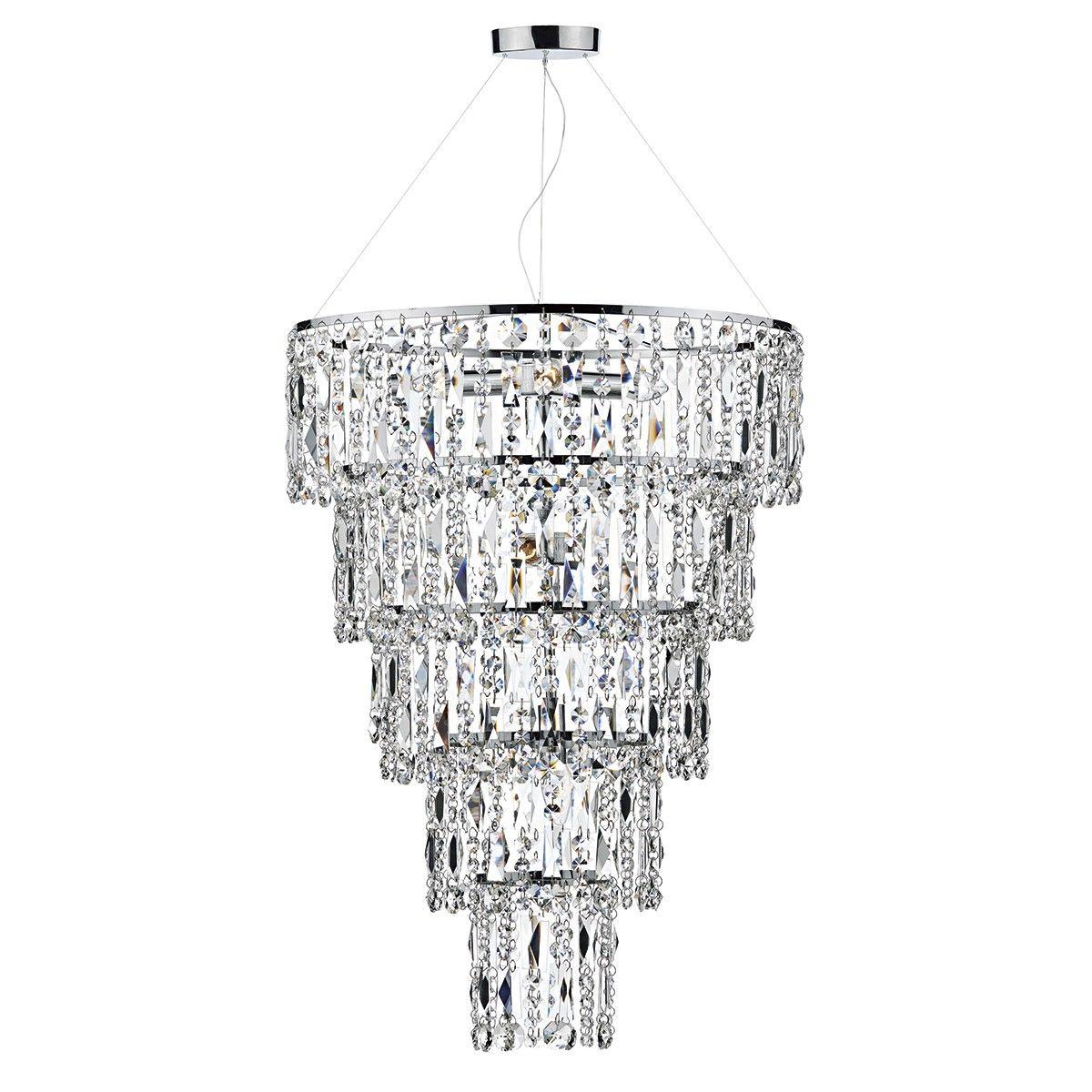 Escala 6 Light Round Crystal Pendant Height Cm 80 Min