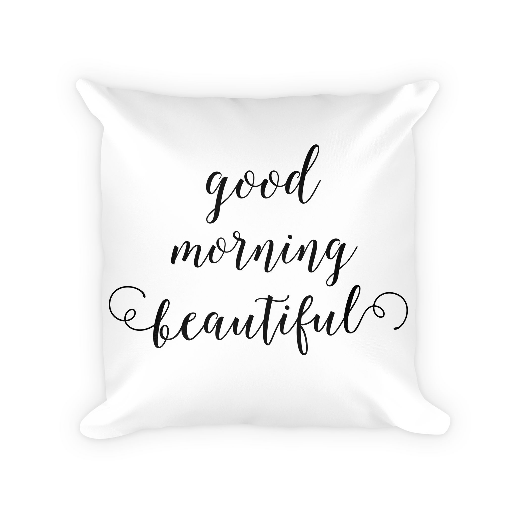 Good Morning Beautiful pillow. Accent your home with an original design  from Red Tulip Decor