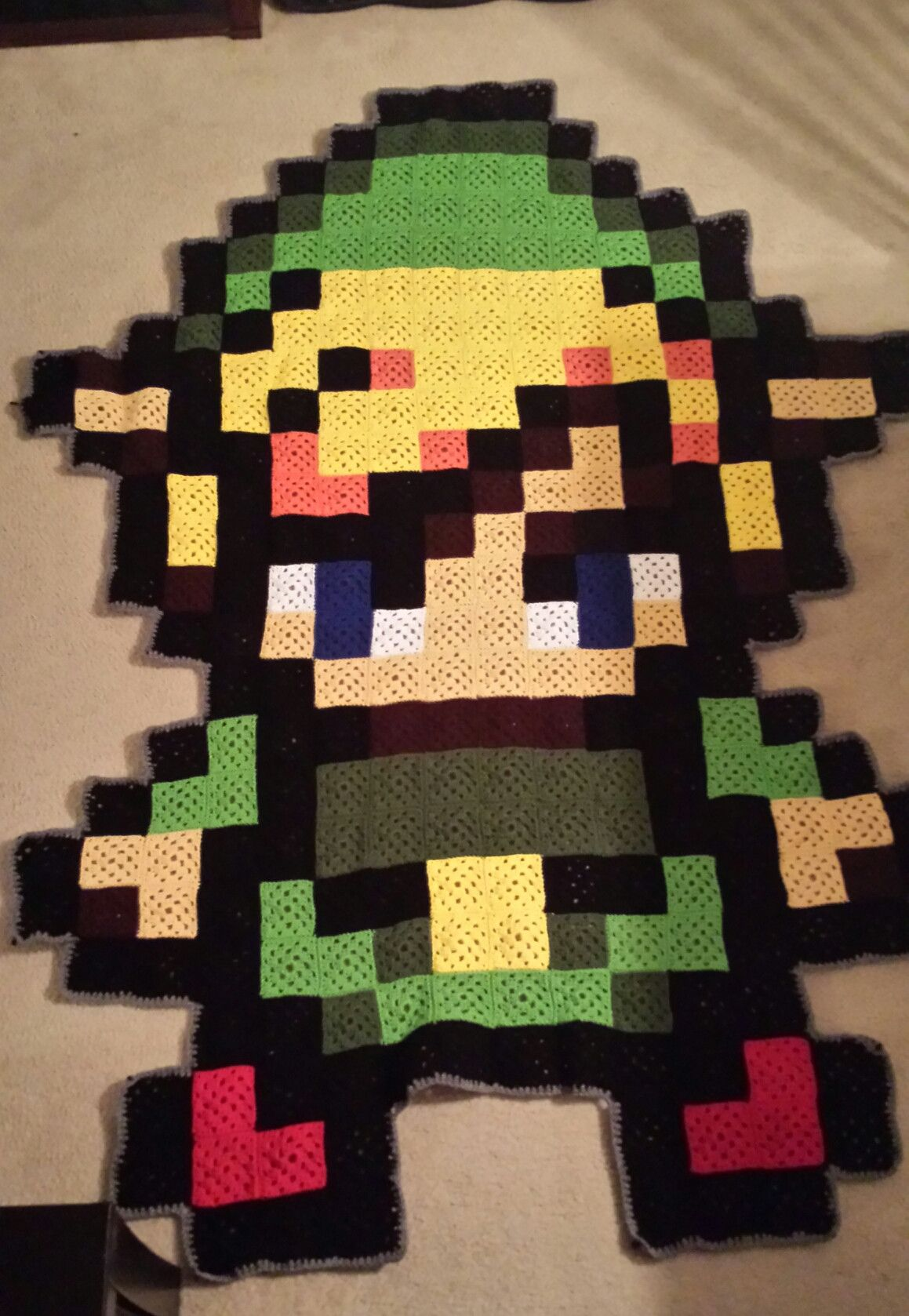 Crochet Blanket Granny Squares Link Zelda Crochet Crochet
