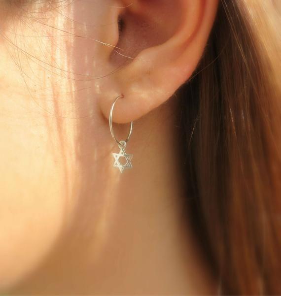 0d724a147 Star of David Earrings, Gold Star of David Hoop #jewelry #earrings  @EtsyMktgTool #starofdavid #goldstarofdavid #goldhoops #starofdavidhoops