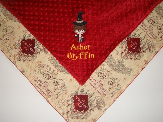 Custom Embroidered Harry Potter Minky Blanket. Choose your ...