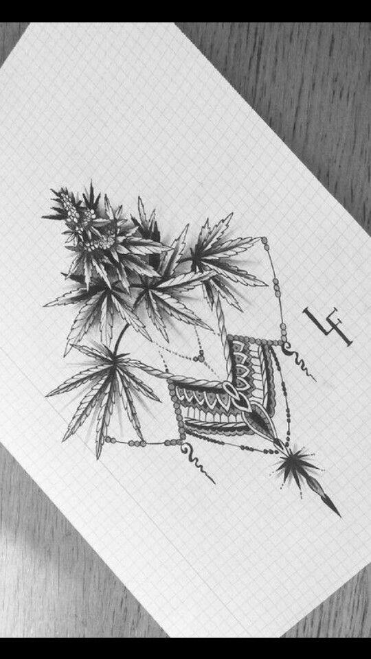 Marihuana Blatt In Weibliche Hand Isoliert 1