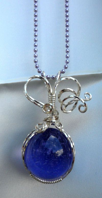 Wire Wrapped Interchangeable Marble Necklace by WrappedUpInMagic ...