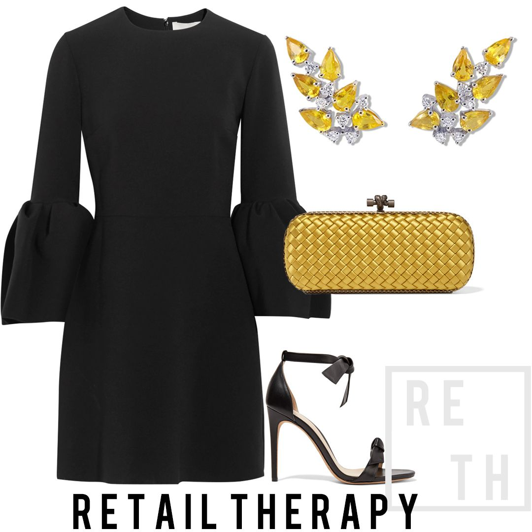 Black dress yellow accessories -  Retailtherapy Adding Bright Yellow Accessories Is A Lovely Way To Make Your Average Lbd