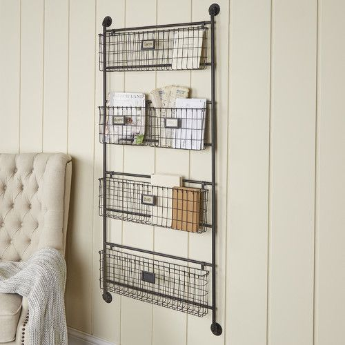 Julianne Wall Organizer With Wall Baskets Baskets On Wall Wall Organization Wall Storage