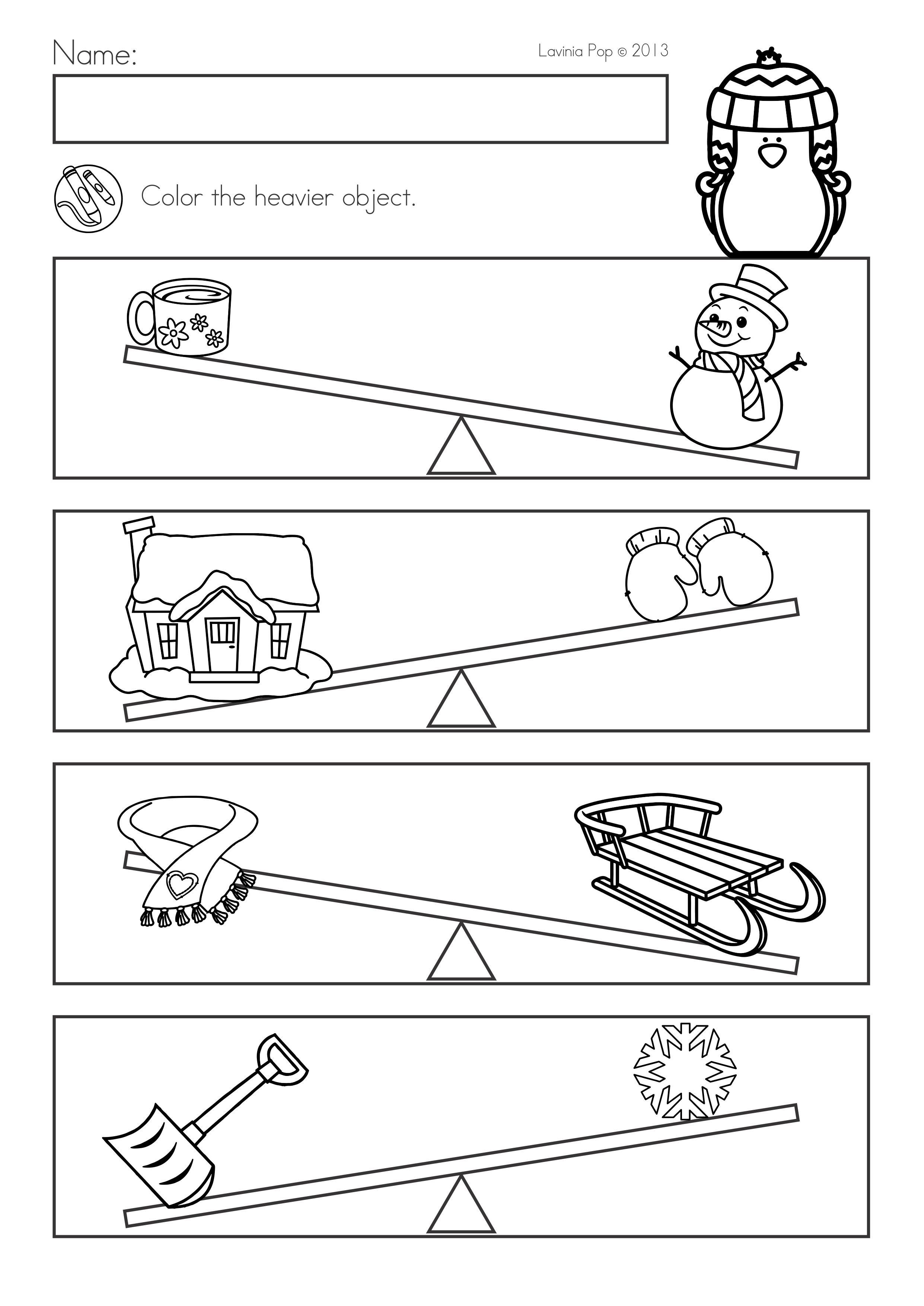 Winter Math Worksheets Activities No Prep Winter Math Worksheets Math Worksheets Kindergarten Math Lesson Plans [ 3508 x 2482 Pixel ]