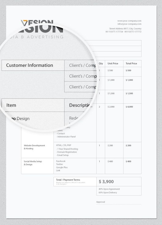 Invoice Template Free Download By Wassim Awadallah Via