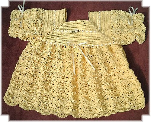 Tlcbabyfreecrochetpatterns Christening Gown Crochet Pattern 7
