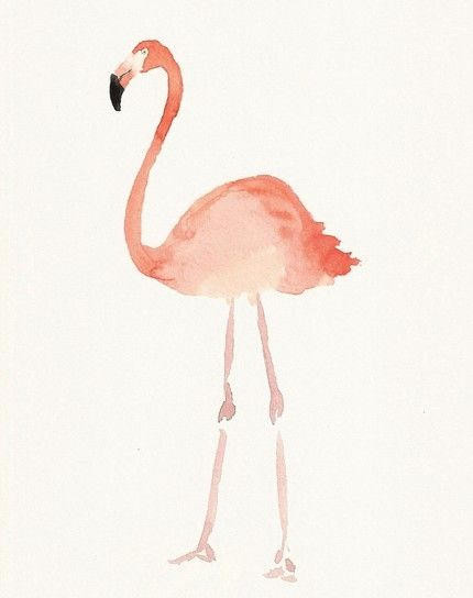 Aquarelle Aquarelle Flamand Rose Peinture Abstraite