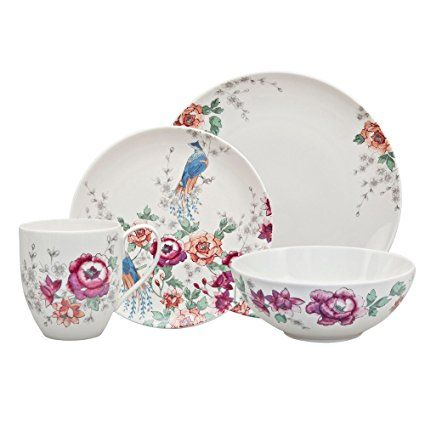 Denby Monsoon Kyoto Boxed Set Multi Colour 16 Piece Denby Pottery Dinner Sets Dinnerware Set