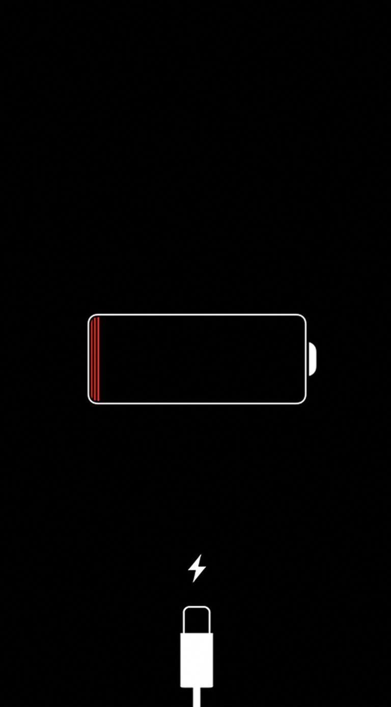 Iphone Red Battery Icon Car Battery Illustration Lock Screen