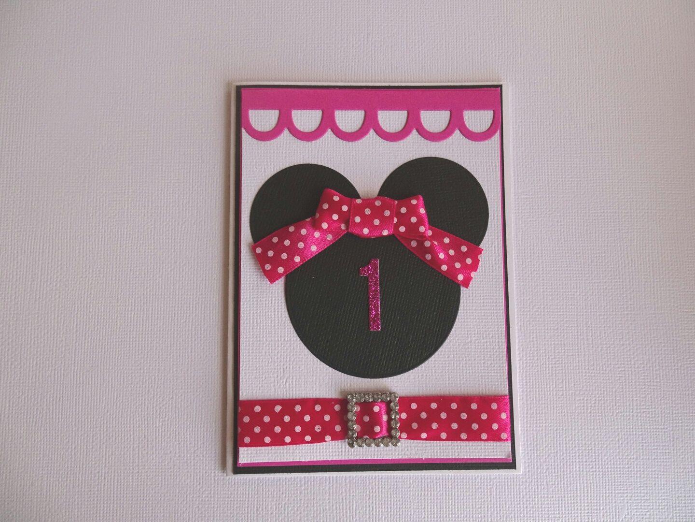 Girls 1st Birthday Card Happy Birthday Card Girls Birthday Card