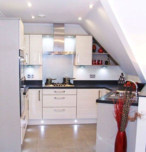 kitchen with sloped ceiling - Google Search   coach house ...