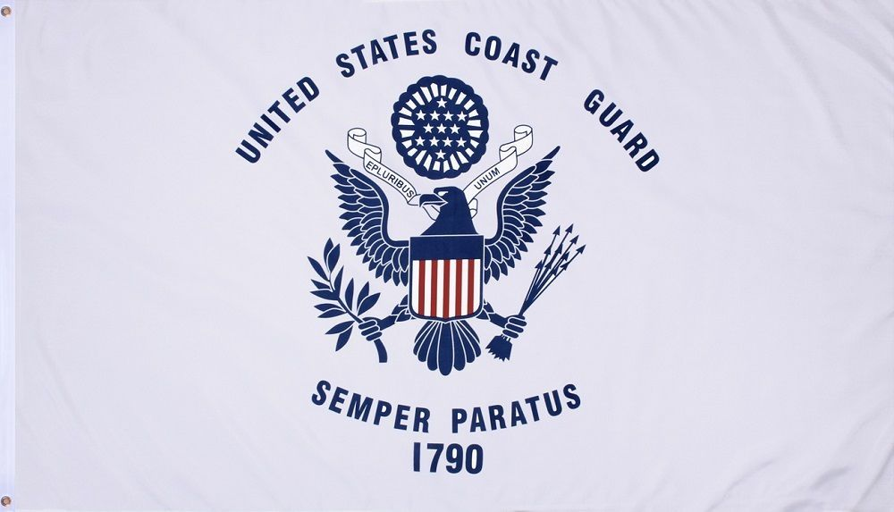 COAST GUARD Military US Banner Flag Double Stitched 3  x 5  Grommets ... 2f54e2986c8