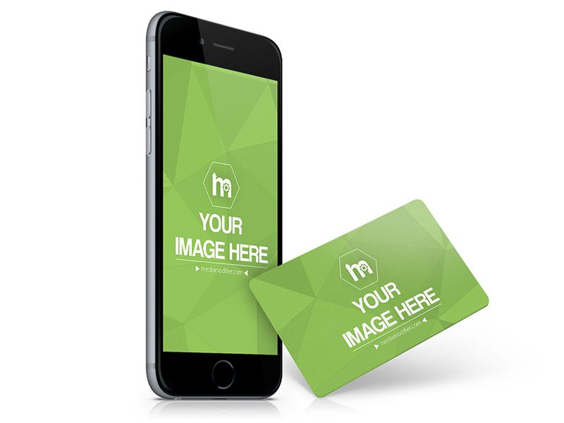 Credit Card And Iphone Mockup Generator Iphone Mockup Mockup Generator Credit Card