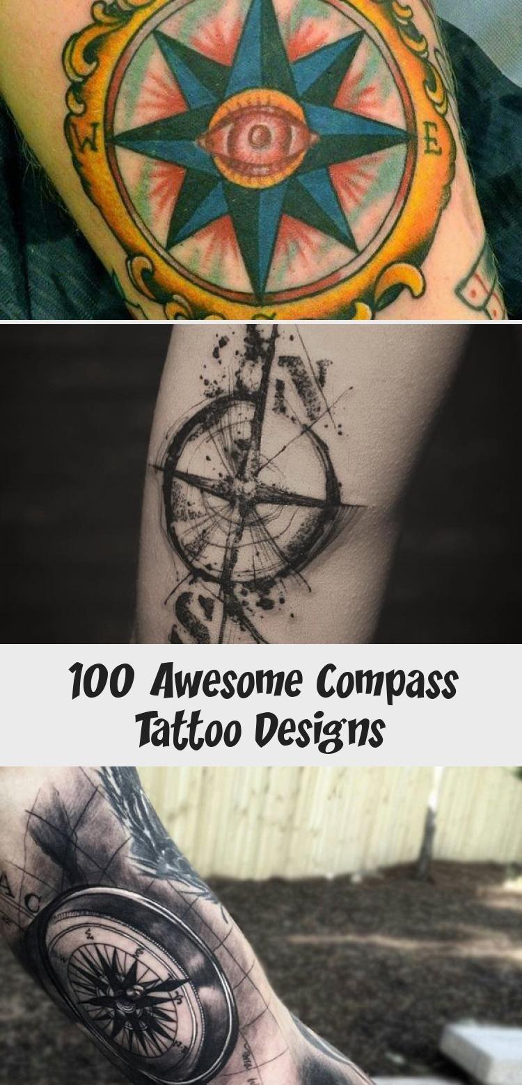 Photo of 100 superbes conceptions de tatouage de boussole – tatouage