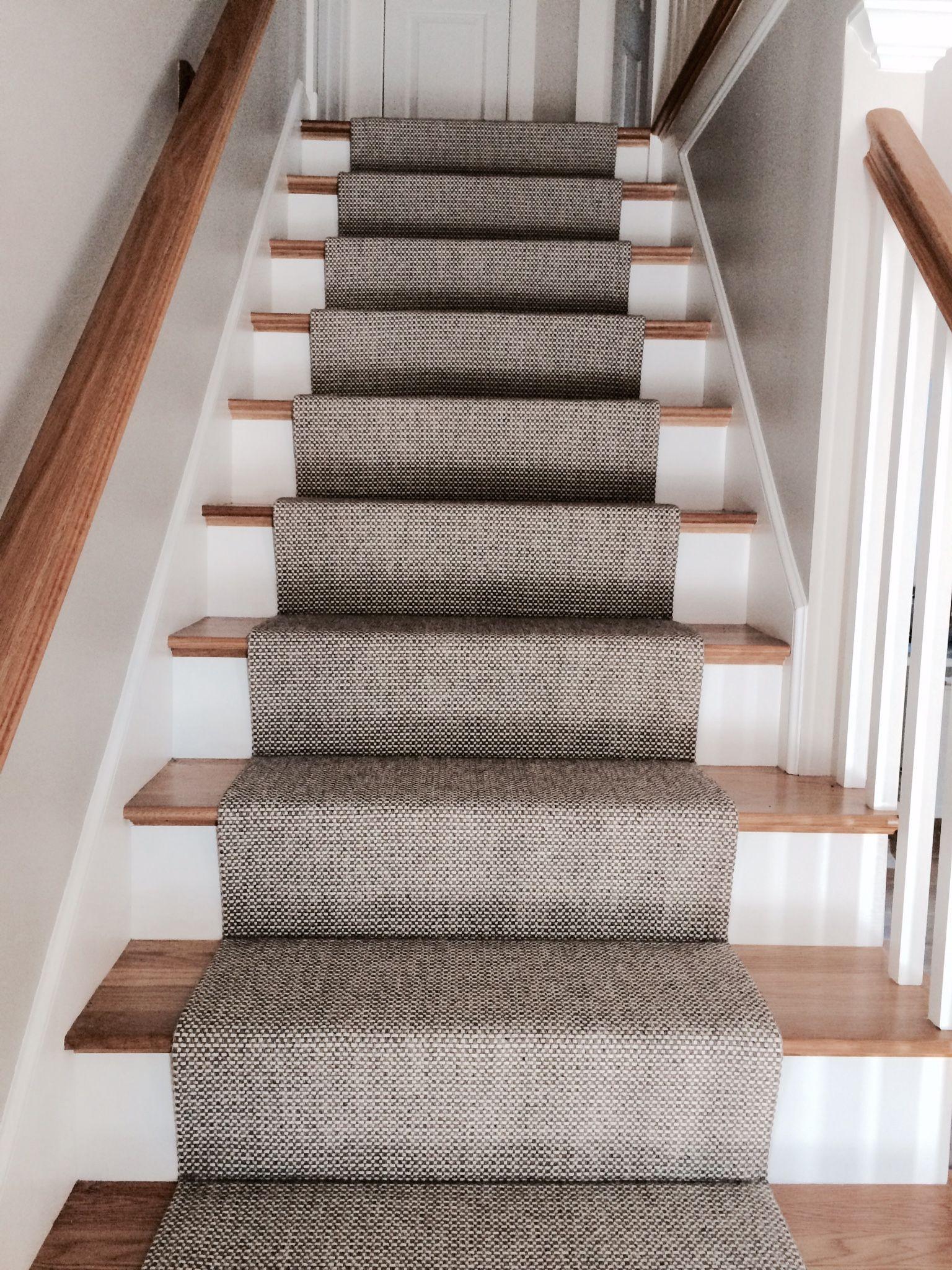 Merida Flat Woven Wool Stair Runner By The Carpet Workroom The | Rug Runners For Stairs | Wood | Antelope | Hallway | Persian | Mid Century Modern