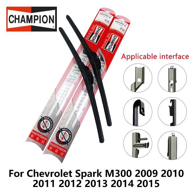 2pieces Set Champion Easyvision Compound Type Wiper Blades For Chevrolet Spark M300 2009 2010 2011 2012 2013 2014 2015 22 15 Chevrolet Spark Smart Roadster Citroen Berlingo
